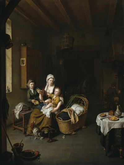 A Mother Feeding Her Child (The Happy Mother), 1707-Willem Van Mieris-Giclee Print