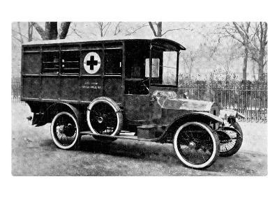 A Motor Ambulance Supplied by Carter's, New Cavendish Street--Giclee Print