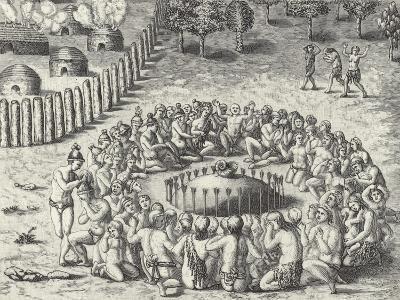 A Mound, from De Bry-Theodor de Bry-Giclee Print