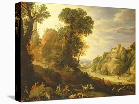 A Mountain Landscape, 1626-Paul Brill Or Bril-Stretched Canvas Print