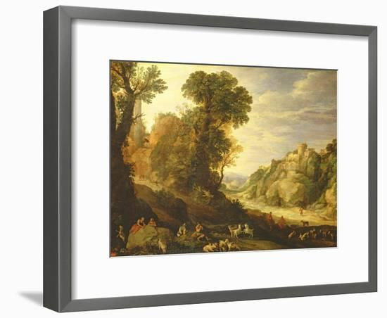 A Mountain Landscape, 1626-Paul Brill Or Bril-Framed Giclee Print