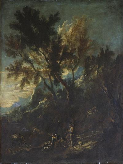 A Mountain Landscape with Pastoral Figures-Alessandro Magnasco-Giclee Print