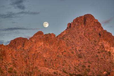 A  Mountain Range at Sunset in Tucson, Arizona-John Burcham-Photographic Print