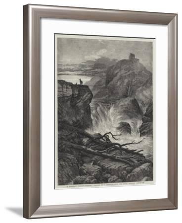 A Mountain Torrent, Morning--Framed Giclee Print