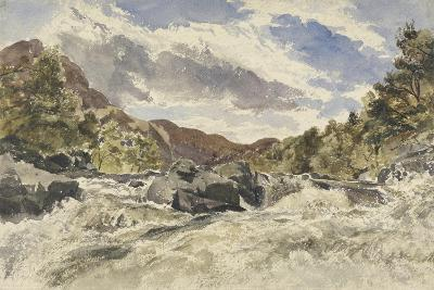 A Mountain Torrent-William James Muller-Giclee Print