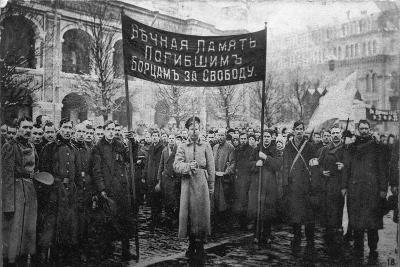 A Mourning Ceremony for Victims of the February Revolution, Russia, 1917--Giclee Print
