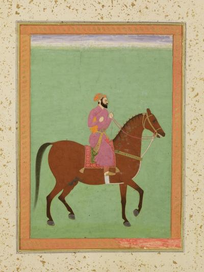 A Mughal Amir on Horseback, C.1670-80, from the Large Clive Album--Giclee Print