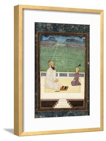 A Mullah and a Pupil, 18th Century (Gouache Heightened with Gold, on Paper)