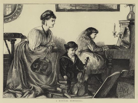 A Musical Rehearsal--Giclee Print