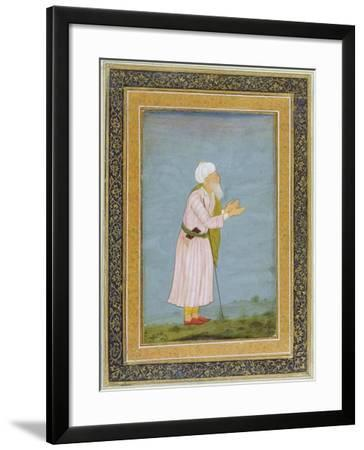 A Muslim Religious Figure, from the Small Clive Album-Mughal School-Framed Giclee Print