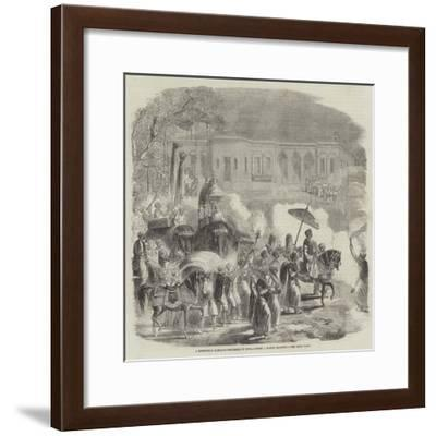 A Mussulman Marriage Procession in India--Framed Giclee Print