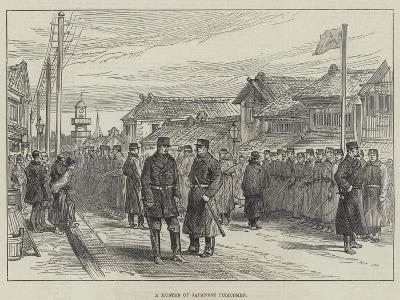 A Muster of Japanese Policemen--Giclee Print
