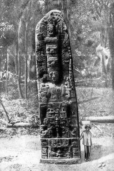 A Mystery Monolith in the Primeval Forest of Quirigua, Guatemala, 1922-Alfred P Maudsley-Giclee Print