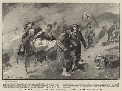 A Narrow Escape for the Wounded, a Field Hospital on Fire-Frederic De Haenen-Giclee Print