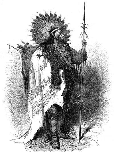 A Native American, USA, 19th Century-A de Neuville-Giclee Print