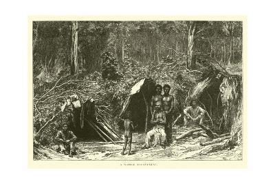 A Native Encampment--Giclee Print