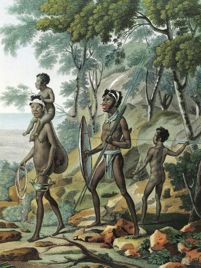 A Native Family at Port Jackson in New Holland--Giclee Print