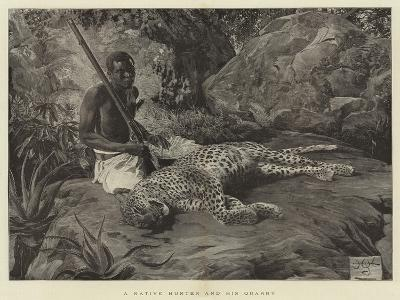 A Native Hunter and His Quarry--Giclee Print