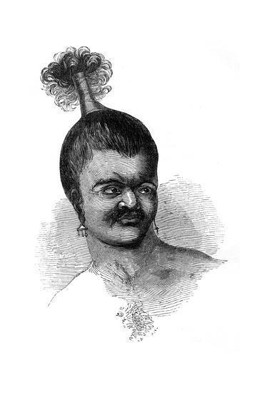 A Native of Omdai Island, 1848--Giclee Print