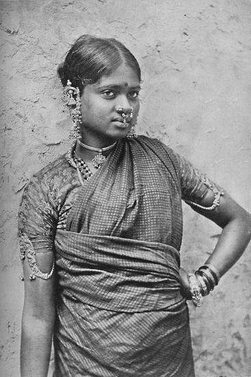 A nautch girl, Madras Presidency, 1902-Unknown-Photographic Print
