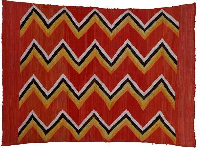 A Navajo Transitional Wedgeweave Blanket--Giclee Print