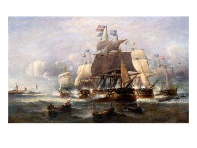 A Naval Engagement-Francois Musin-Giclee Print