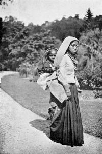 A Nepalese Woman with Her Child, C1910