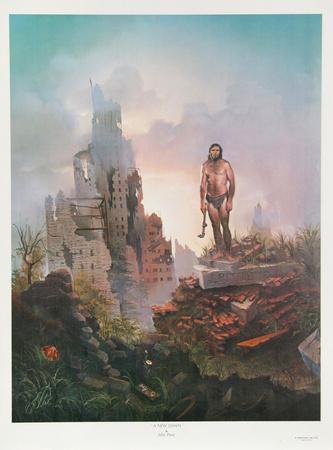 "Giant Size! Vintage John Pitre/'  /""A NEW DAWN/"" Fantasy  POSTER"
