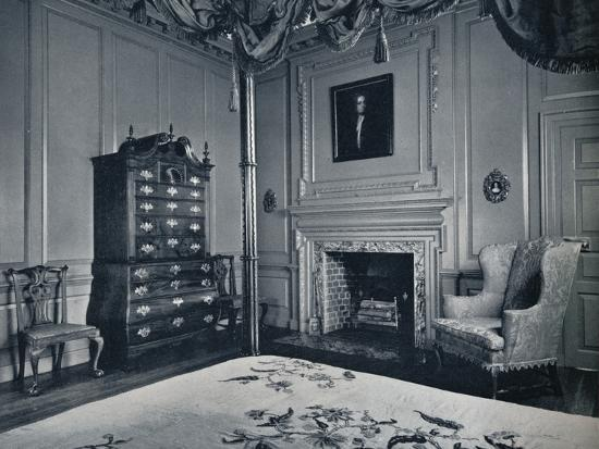 A New England Chest-on-Chest with Bombe Base in one of the bedrooms of the palace of Williamsburg-Unknown-Photographic Print
