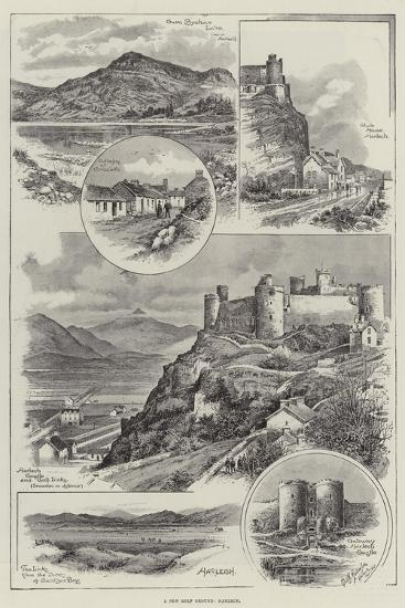 A New Golf Ground, Harlech--Giclee Print