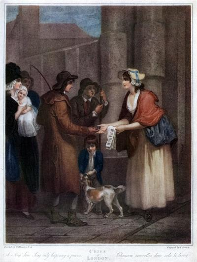 A New Love Song, Only Ha'Penny a Piece, 1796-Anthony Cardon-Giclee Print