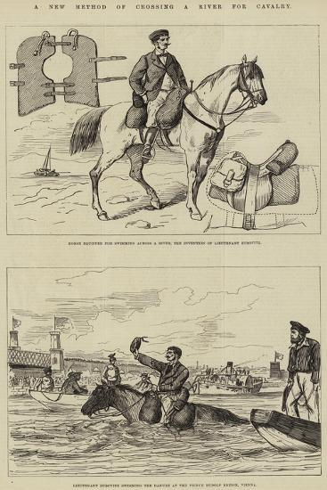 A New Method of Crossing a River for Cavalry--Giclee Print