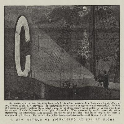 A New Method of Signalling at Sea by Night--Giclee Print