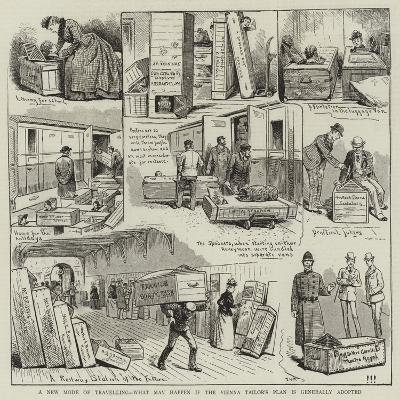 A New Mode of Travelling, What May Happen If the Vienna Tailor's Plan Is Generally Adopted--Giclee Print