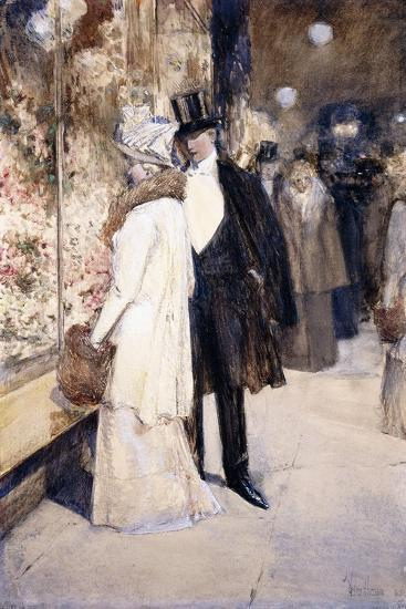 A New Year's Nocturne, New York, 1892-Childe Hassam-Giclee Print