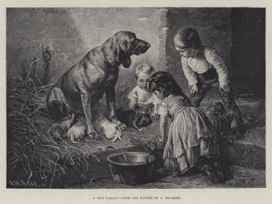 A Nice Family-Carl Reichert-Giclee Print