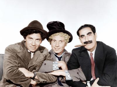A Night at the Opera, Chico Marx, Harpo Marx, Groucho Marx, 1935--Photo