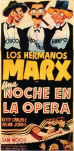 A Night At The Opera, Spanish Movie Poster, 1935