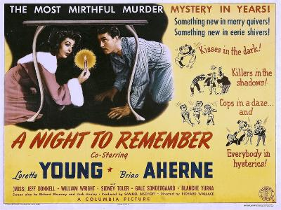A Night to Remember, Loretta Young, Brian Aherne, 1942--Poster