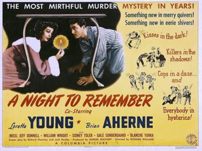 A Night to Remember, Loretta Young, Brian Aherne, 1942
