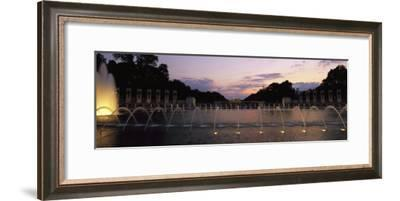 A Night View of Memorial Plaza of the World War Ii Memorial-Richard Nowitz-Framed Photographic Print