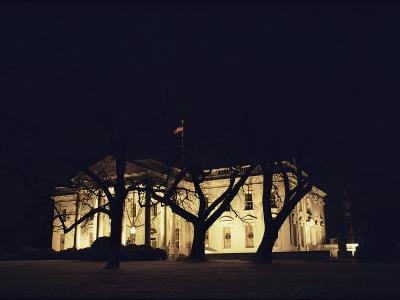 A Night View of the White House Decorated for the Holidays-Medford Taylor-Photographic Print