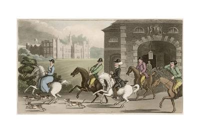 A Noble Hunting Party-Thomas Rowlandson-Giclee Print