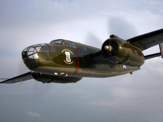 A North American B-25 Mitchell in Flight-Stocktrek Images-Photographic Print