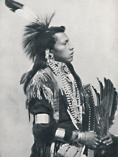 A North American Indian chief (profile), 1912-Unknown-Photographic Print