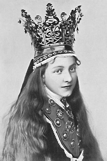 A Norwegian girl in holiday attire, 1912-Solveig Lund-Photographic Print