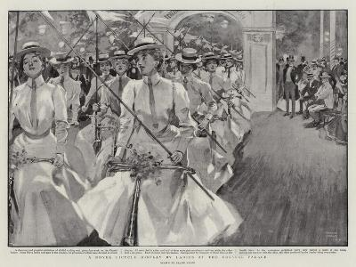 A Novel Bicycle Display by Ladies at the Crystal Palace-Frank Craig-Giclee Print