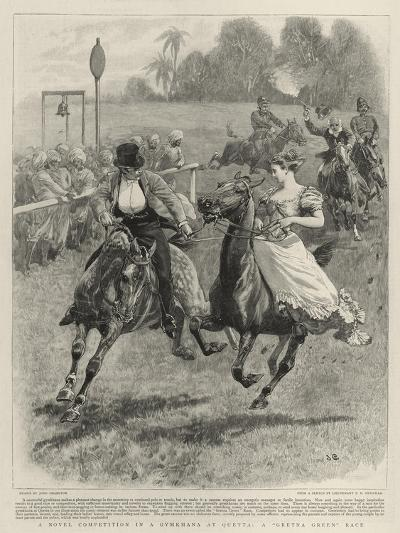 A Novel Competition in a Gymkhana at Quetta, a Gretna Green Race-John Charlton-Giclee Print