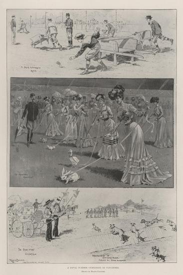 A Novel Summer Gymkhana at Vincennes-Ralph Cleaver-Giclee Print