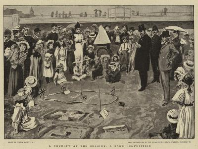 A Novelty at the Seaside, a Sand Competition-Gordon Frederick Browne-Giclee Print